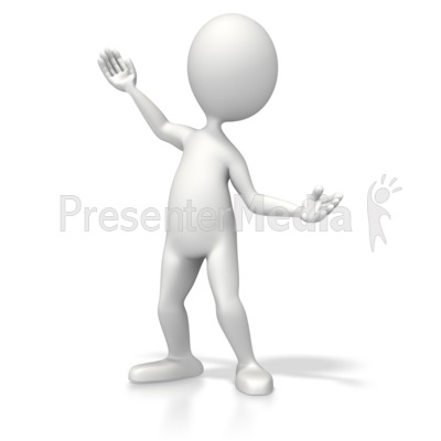 Casual Pose Present Presentation clipart