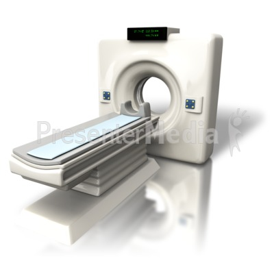 Cat (CT) Scanner Angled Presentation clipart