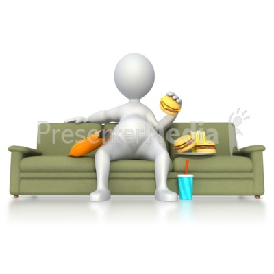Stick Figure with Poor Nutrition  Presentation clipart
