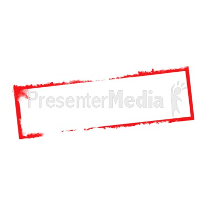 Blank Stamp Narrow Presentation clipart