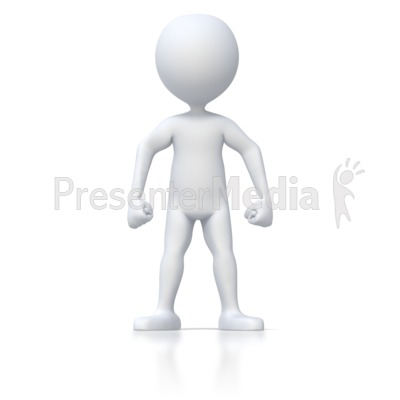Angry Stick Figure Presentation clipart