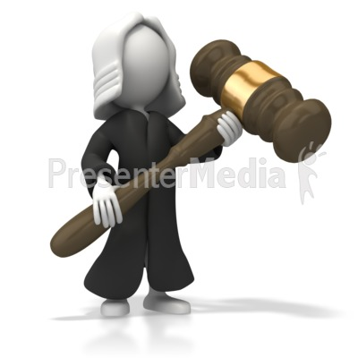 Judge With Robe Presentation clipart
