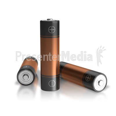 Three Batteries One Standing Presentation clipart