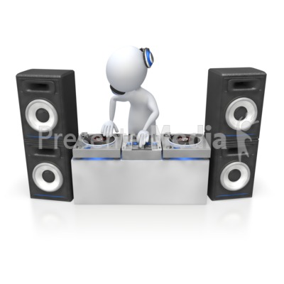 Dj Mixing Turntables Presentation clipart