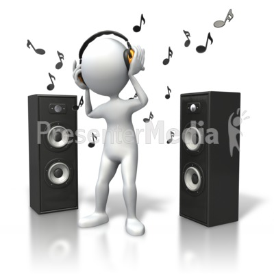 Music Vibe Headphones Speakers Presentation clipart