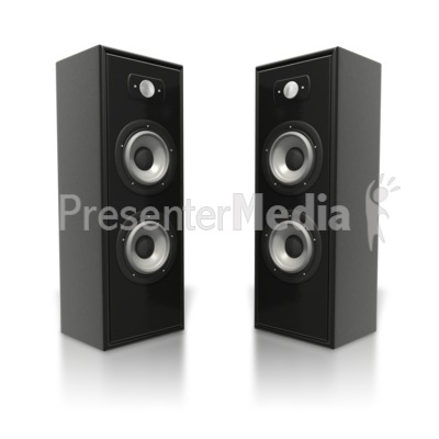 Large Speaker Towers Presentation clipart
