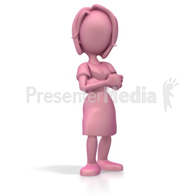 Woman Standing Proud Presentation clipart
