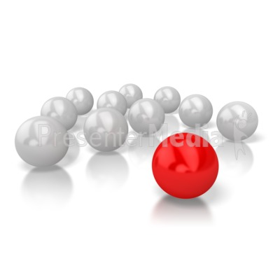 Ball Stand Out Presentation clipart