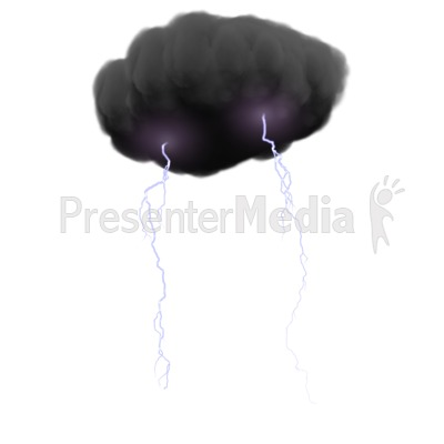 Storm Cloud With Lightning Presentation clipart