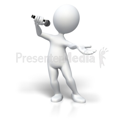 Singing To The Top Presentation clipart