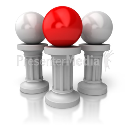 Balls On Pillars Presentation clipart