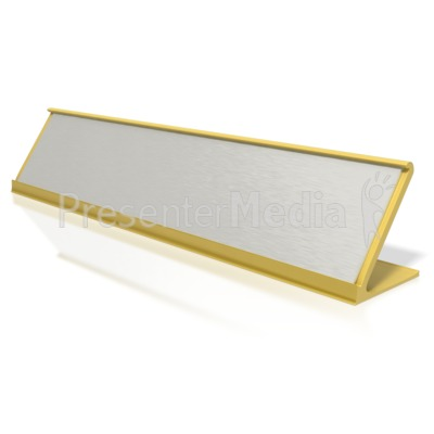 Blank Identification Name Plate  Presentation clipart