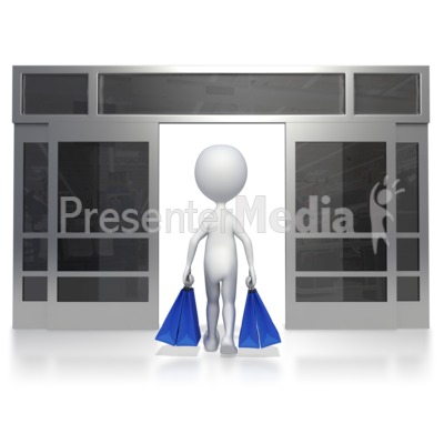 Walking Out Of Store Presentation clipart