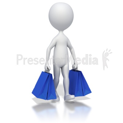 Walking With Shopping Bags Presentation clipart