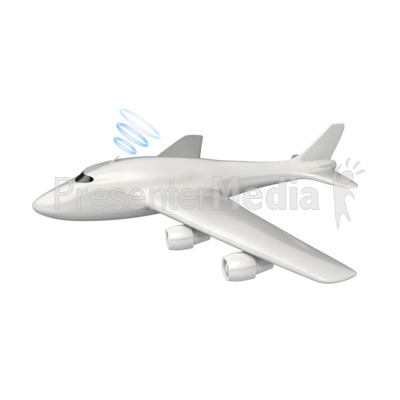 Wireless Airplane Communication Presentation clipart