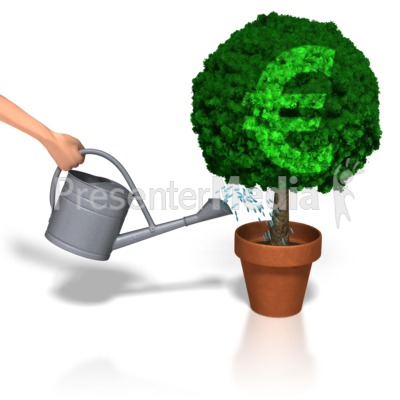 Watering Euro Plant Presentation clipart