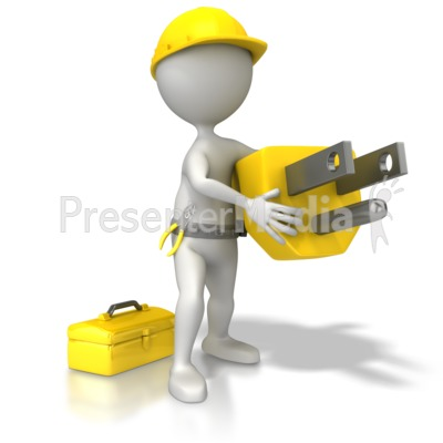 Electrician With Plug Presentation clipart