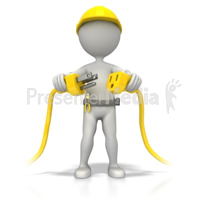 Electrician Plug It In Presentation clipart