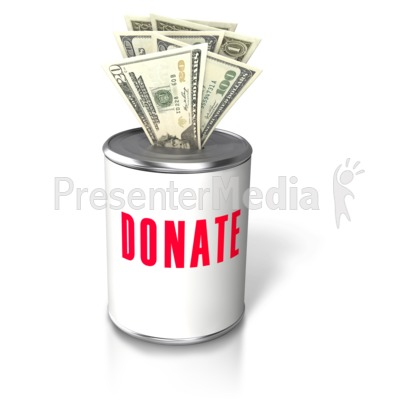 Donation Money Insert Can Presentation clipart