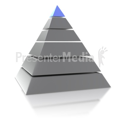 Six Point Pyramid Presentation clipart