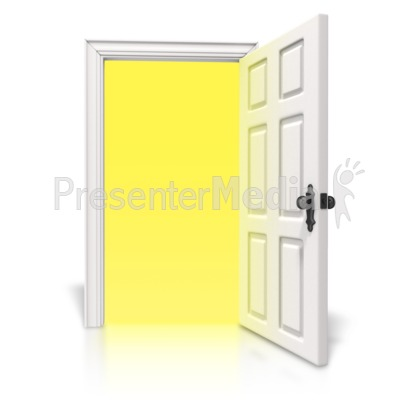 Bright Light Door Presentation clipart