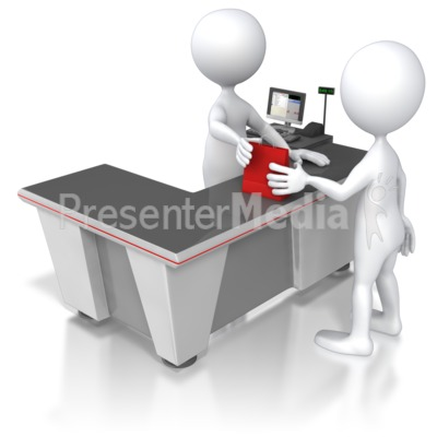 Retail Check Out Counter Presentation clipart