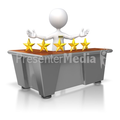 Five Star Customer Service Stick Figure Presentation clipart