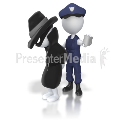 Thief Captured by Authorities Presentation clipart