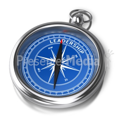 Compass Leadership Direction Presentation clipart