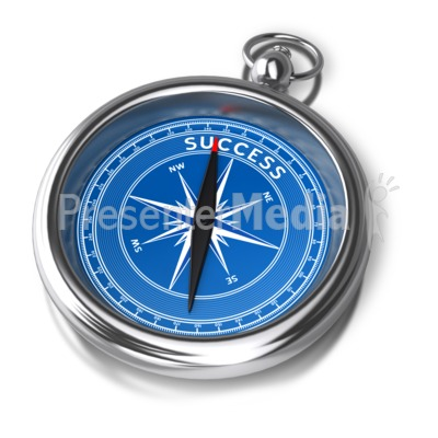 Compass Success Direction Presentation clipart