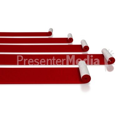 Red Carpet Rolls Presentation clipart