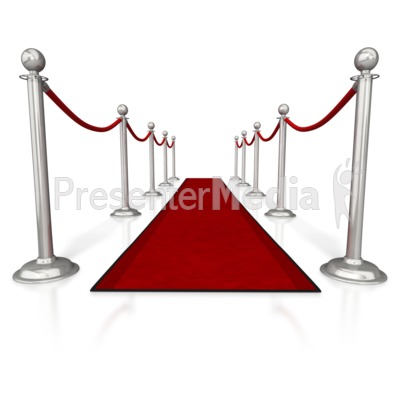 Red Carpet and Ropes Presentation clipart