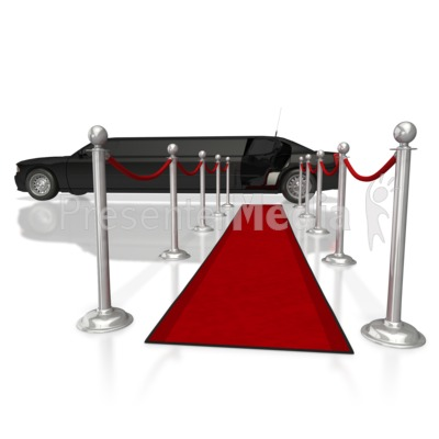 Limo Red Runway Carpet  Presentation clipart