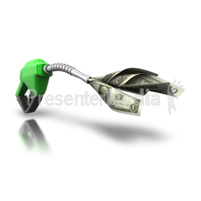 Gas Pump Guzzle Your Money Presentation clipart