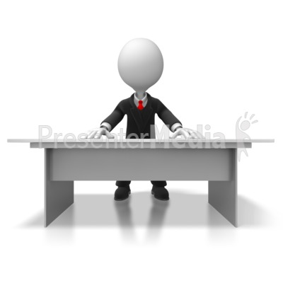 Boss Behind Desk Presentation clipart