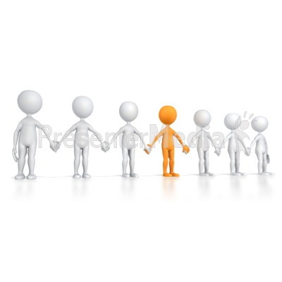 Group Line with Key Stick Figure Presentation clipart