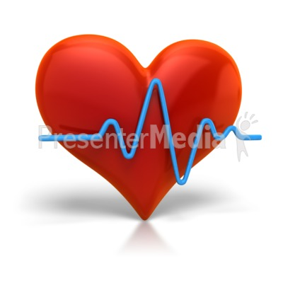 Heart Beat Cardiogram Presentation clipart