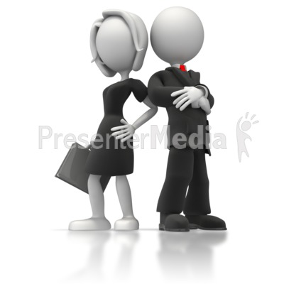 Business Man And Woman Presentation clipart
