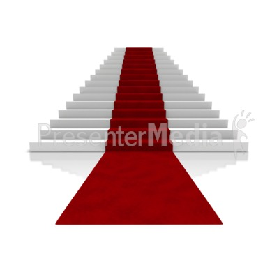 Big Steps With Carpet Presentation clipart