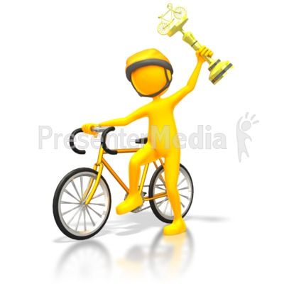 Racer Winner Gold Trophy Presentation clipart
