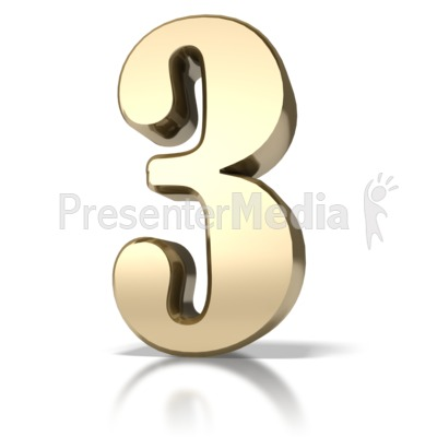 Gold Three Presentation clipart