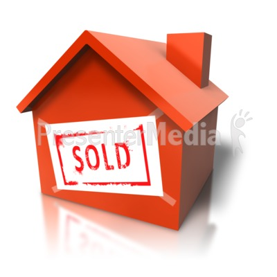 House With Sold Sign Presentation clipart