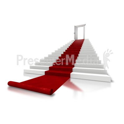 Roll Out The Red Carpet Stairs Presentation clipart