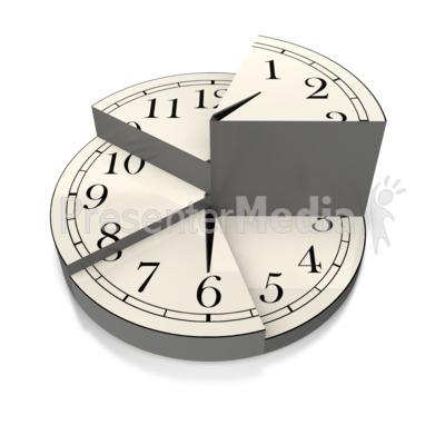 Divided Time Pie Chart Presentation clipart