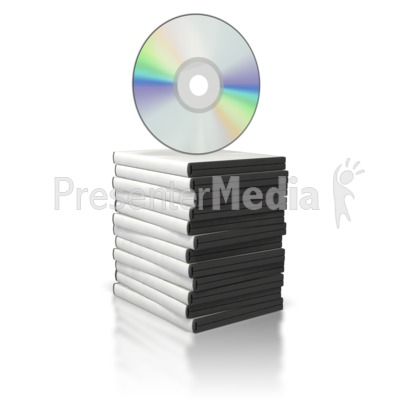 DVD Stack with Disc on Top Presentation clipart
