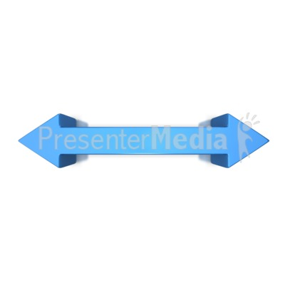 Double Arrow Strait Presentation clipart