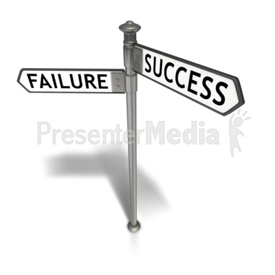 Street Sign Success Failure Presentation clipart