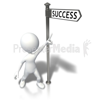 Street Sign Stick Figure Success Presentation clipart