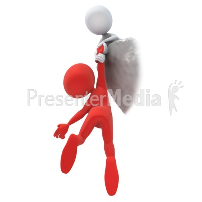Cliff Hanger Rescue Presentation clipart