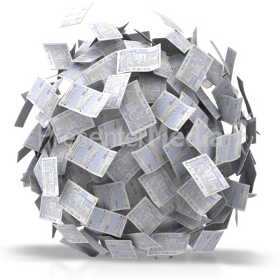 Ball Of Papers Presentation clipart